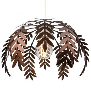 Classic Fern Leaf Design Ceiling Pendant Light Shade in Stylish Bronze Finish