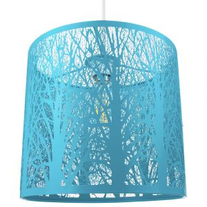 Unique and Beautiful Soft Matt Teal Metal Forest Design Ceiling Pendant Shade