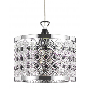 Modern Sparkly Ceiling Pendant Light Shade with Clear and Black Beads
