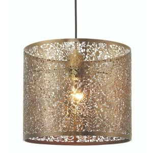 Unique and Beautiful Brushed Bronze Metal Nature Designed Ceiling Pendant Shade