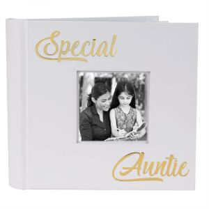 Modern Special Auntie Photo Album with Gold Foil Text - Holds 80 4x6 Pictures