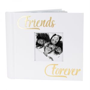 Modern Friends Forever Photo Album with Gold Foil Text - Holds 80 4x6 Pictures