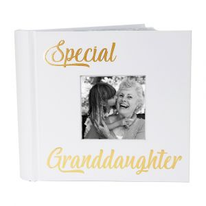 Modern Special Granddaughter Photo Album with Gold Text - Holds 80 4x6 Pictures