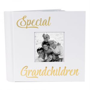 Modern Special Grandchildren Photo Album with Gold Text - Holds 80 4x6 Pictures