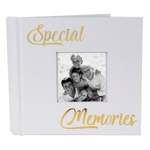 Modern Special Memories Photo Album with Gold Foil Text - Holds 80 4x6 Pictures