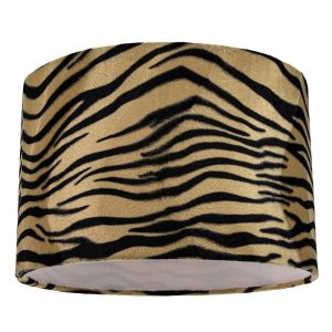 Unique and Distinctive Tiger Print Table/Pendant Lamp Shade in Brushable Velvet