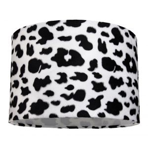 Unique Black and White Soft Brushable Velvet Cow Print Table/Pendant Lamp Shade