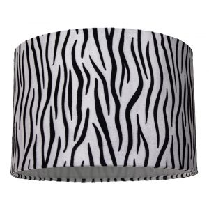 Unique and Contemporary Zebra Print Table/Pendant Lamp Shade in Brushable Velvet