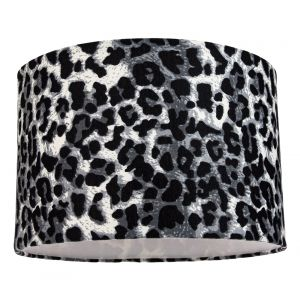 Modern and Stylish Snow Leopard Print Table/Pendant Lamp Shade in Soft Fabric