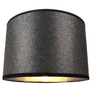 Modern Black Mini Sequin Glitter Lamp Shade with Silver Crisscross Decoration