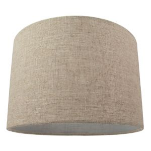 """Contemporary and Stylish Natural Linen 12"""" Lamp Shade in Oatmeal - 30cm Diameter"""
