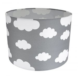 White Clouds Children's/Kids Grey Cotton Fabric Bedroom Lamp or Pendant Shade