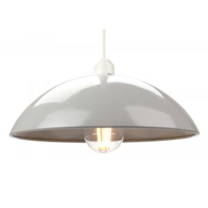 Industrial Retro Designer Grey Gloss Disc Metal Ceiling Pendant Lighting Shade