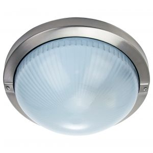Contemporary Stainless Steel IP44 Bathroom or Outdoor Ceiling/Wall Light Fitting
