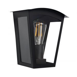 Contemporary and Industrial Matt Black Outdoor Flush Lantern Wall Light Fitting