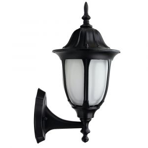 Traditional Matt Black Cast Aluminium Outdoor IP44 Wall Lantern Light Fixture