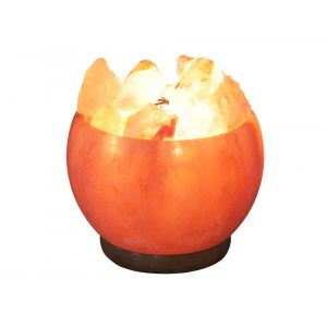 Handcrafted Himalayan Aromatherapy Salt Fire Basket Lamp with Bulb Included