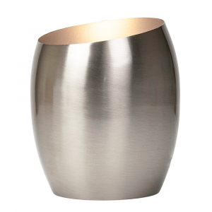 Modern Designer Satin Nickel Metal Integrated LED Table/Floor Lamp Uplighter