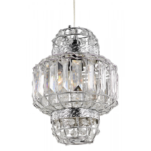 Morrocan Lantern Style Chrome and Clear Acrylic Pendant Shade