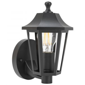 Traditional Classic Outdoor Matt Black Wall Lantern Light Fixture IP44 Rated