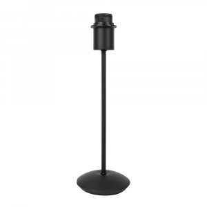 Contemporary and Sleek Matt Black Metal Table Lamp Base with Inline Switch