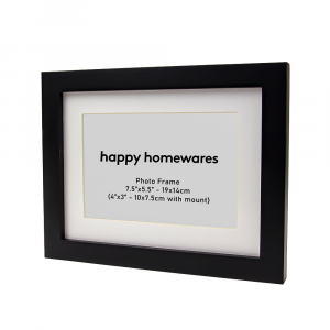 """Modern Black Wooden 7.5""""x5.5"""" Inch Wall Mount Photo Frame and 6""""x4"""" Mount"""