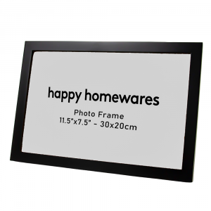 """Modern Black Wooden 11.5""""x7.5"""" Inch Photo Frame with Stand 