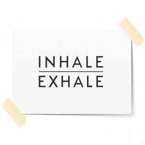 Inhale Exhale Scandi Wall Art Print | Minimalist Decor Print | A3 Print Only
