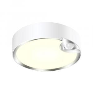 Motion Sensor LED Ceiling Light Fitting Battery Operated - Warm White 300 Lumens