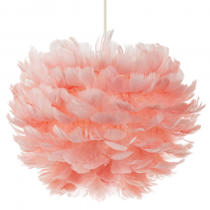 Striking and Contemporary Real Pink Goose Feather Decorated Pendant Light Shade