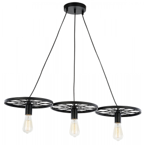 Industrial Designed Triple Cartwheel Pendant Ceiling Light Fitting
