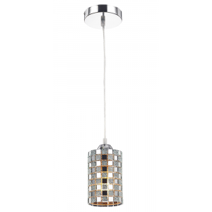 Modern Mosaic Glass Pendant Light with Chrome Plates Base Plate