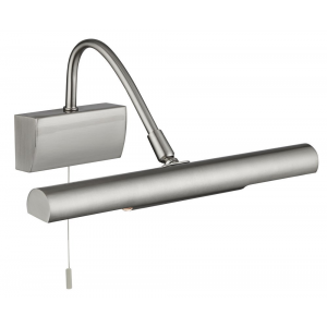Contemporary Satin Chrome Pull Switched Picture Light