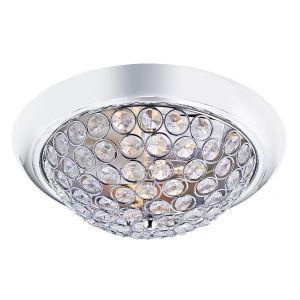 Modern Chrome and Crystal Beaded IP44 Bathroom Ceiling Light