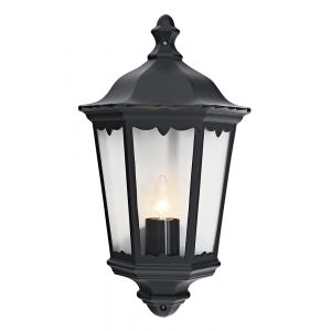 Traditional Black Cast Aluminium Outdoor Lantern Wall Light