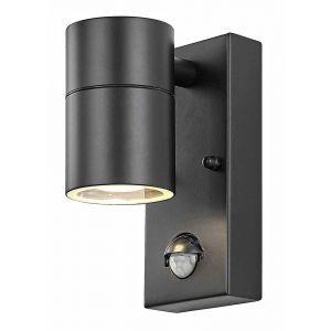 Contemporary Matt Black PIR Sensor Outdoor Downlighter Light Fitting