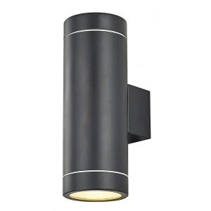 Contemporary Matt Black Aluminium Outdoor IP44 Wall Light