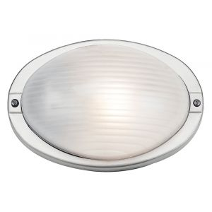 Stylish Stainless Steel Outdoor Oval Bulkhead Wall or Ceiling Light
