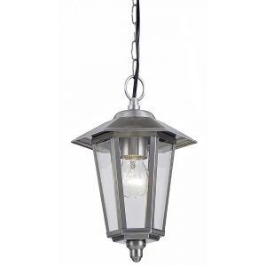 Contemporary Stainless Steel Hanging Lantern Porch Light