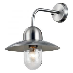 Outdoor Garden Stainless Steel Wall Light with Glass Shade