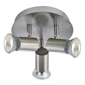 Modern IP44 Bathroom Spotlight Ceiling Fitting with Satin Nickel Finish