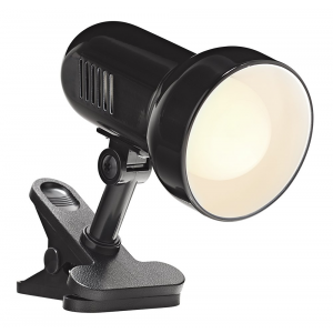 Black Reflector Clip on Spot Light with Inline Switch