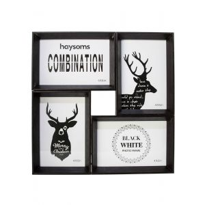 "Dark Wood Effect Multi Photo Frame 4"" x 6"""