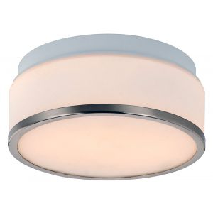 Satin Chrome & Opal Glass Stylish Bathroom Ceiling Light