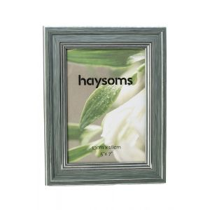 """Brushed Effect Photo Frame 5"""" x 7"""" Duck Egg - Silver"""