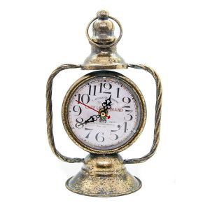 Lantern Style Traditional Standing Clock - Tarnished Gold