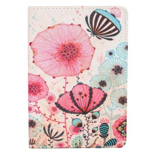 iPad 1 / 2 / 3 Mini Bright & Colourful Floral Illustration Faux Leather Case