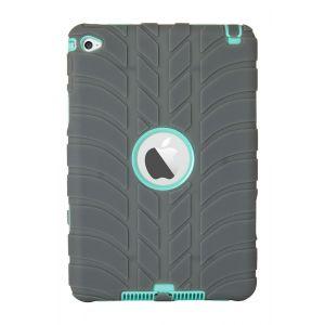 iPad Mini 4 Silicone Tyre Tread Heavy Duty Protective Case - Grey / Blue
