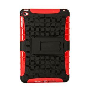 iPad Mini 4 Silicone Heavy Duty Protective Case - Red / Black