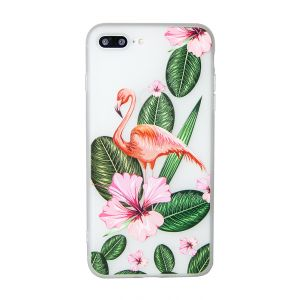 iPhone 7 Plus Pretty Flamingo Floral Opaque TPU Case - Multicoloured